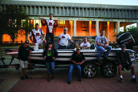 The Bass Anglers fishing club competes in regionals at Kentucky Lake