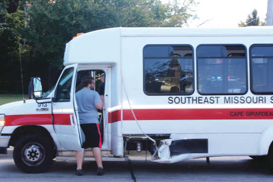 No injuries in accident involving campus shuttle