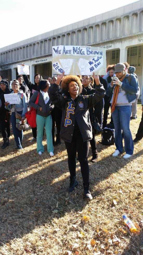 Students led peaceful protest in light of grand jury decision