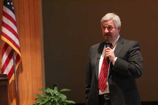 Dr. Paul Plotkowski talked about president's role at forum