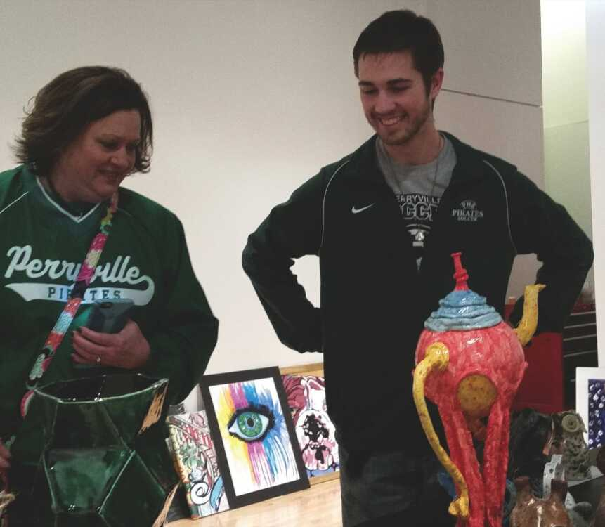 Teachers added to high school art exhibit at River Campus